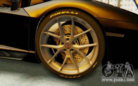 Lamborghini Aventador LP700-4 Light Tune for GTA San Andreas back view