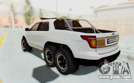 Ford Explorer Pickup for GTA San Andreas back left view