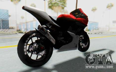Kawasaki Ninja 250R Superbike for GTA San Andreas back left view