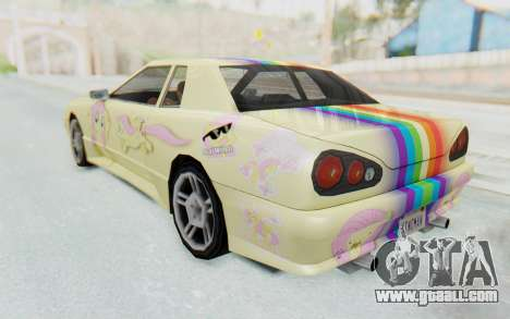 Elegy MLP Fluttershy PJ for GTA San Andreas left view