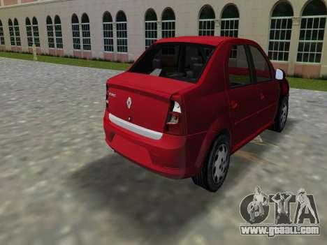 Renault Logan for GTA Vice City left view