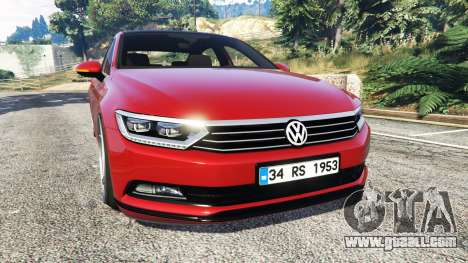 Volkswagen Passat Highline B8 2016 Stanced for GTA 5