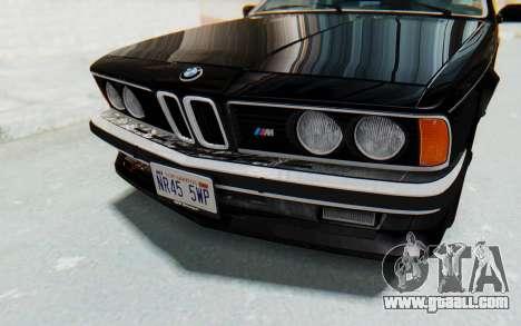 BMW M635 CSi (E24) 1984 IVF PJ3 for GTA San Andreas side view