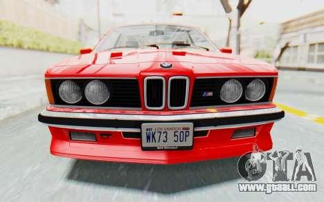 BMW M635 CSi (E24) 1984 IVF PJ2 for GTA San Andreas inner view