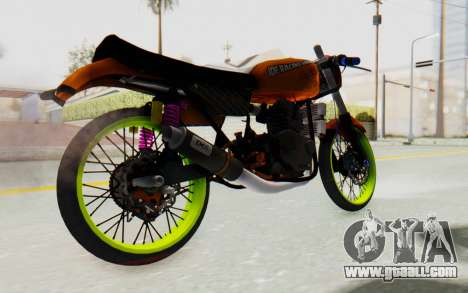 Honda CG125 Roadrace for GTA San Andreas back left view