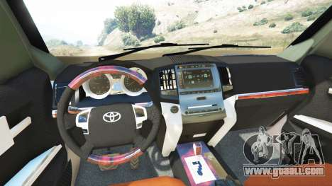 GTA 5 Toyota Land Cruiser Prado 2012 rear right side view
