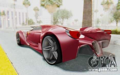 Ferrari F80 Concept for GTA San Andreas left view
