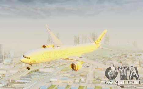 Boeing 777-300ER Virgin Australia v2 for GTA San Andreas back left view