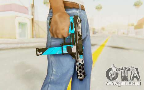 Tec-9 Neural Blue for GTA San Andreas third screenshot