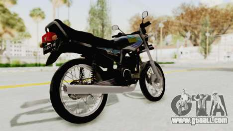 Yamaha RX King 135 1993 for GTA San Andreas back left view