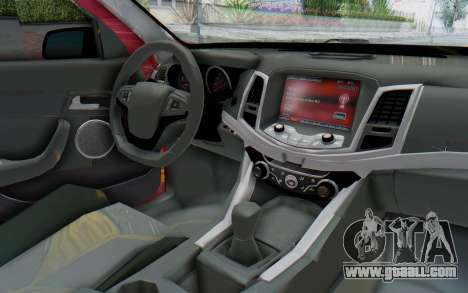 Chevrolet Super Sport 2014 for GTA San Andreas inner view