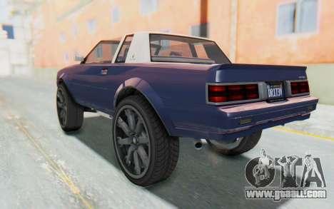 GTA 5 Willard Faction Custom Donk v3 IVF for GTA San Andreas left view
