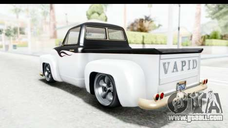 GTA 5 Vapid Slamvan Custom for GTA San Andreas interior