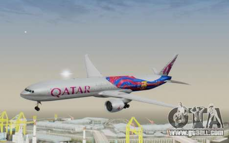 Boeing 777-300ER Qatar Airways v2 for GTA San Andreas back left view