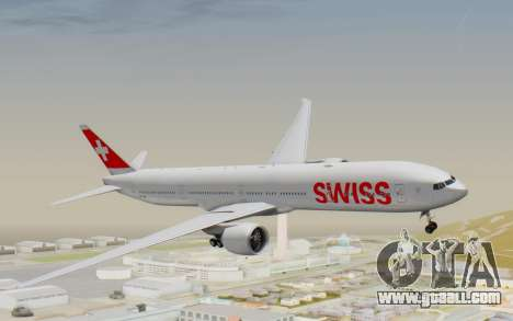 Boeing 777-300ER Swiss Global Air Lines for GTA San Andreas back left view