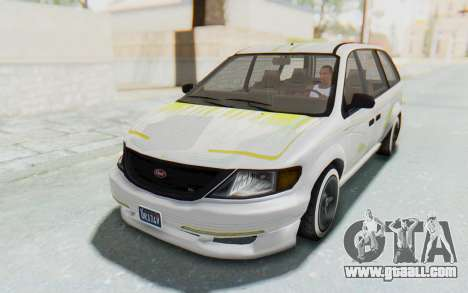 GTA 5 Vapid Minivan Custom without Hydro for GTA San Andreas bottom view