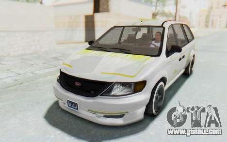 GTA 5 Vapid Minivan Custom for GTA San Andreas bottom view
