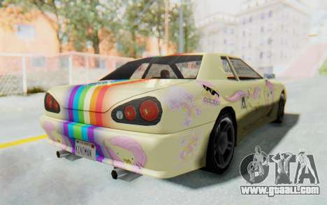 Elegy MLP Fluttershy PJ for GTA San Andreas back left view