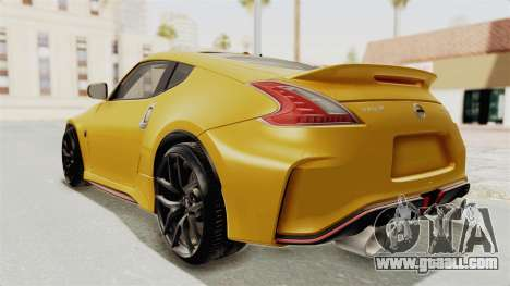 Nissan 370Z Nismo Z34 for GTA San Andreas left view