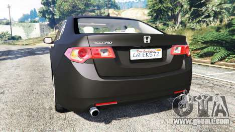 Honda Accord 2010 for GTA 5