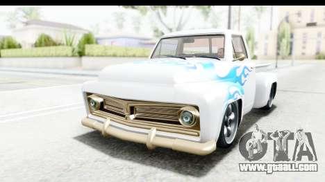 GTA 5 Vapid Slamvan without Hydro IVF for GTA San Andreas inner view