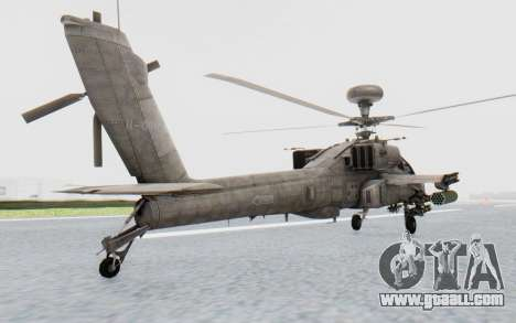 AH-64 Apache Desert for GTA San Andreas back left view