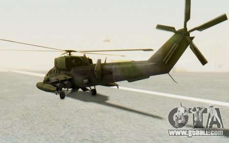 WZ-19 Attack Helicopter for GTA San Andreas back left view
