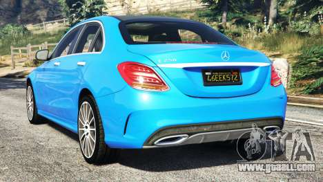 GTA 5 Mercedes-Benz C250 2014 rear left side view
