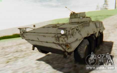 MGSV Phantom Pain STOUT IFV APC Tank v2 for GTA San Andreas back view