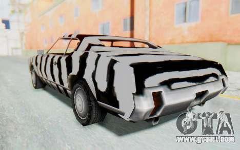White Zebra Sabre Turbo for GTA San Andreas left view