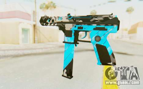 Tec-9 Neural Blue for GTA San Andreas second screenshot