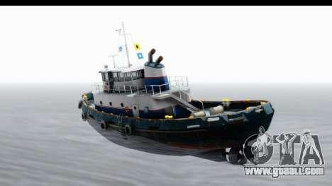 GTA 5 Buckingham Tug Boat v2 IVF for GTA San Andreas left view
