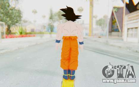 Dragon Ball Xenoverse Goku Shirtless SJ for GTA San Andreas third screenshot