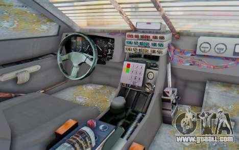 DeLorean DMC-12 2012 End Of The World for GTA San Andreas inner view