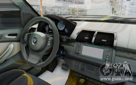 BMW X5 Pickup for GTA San Andreas inner view