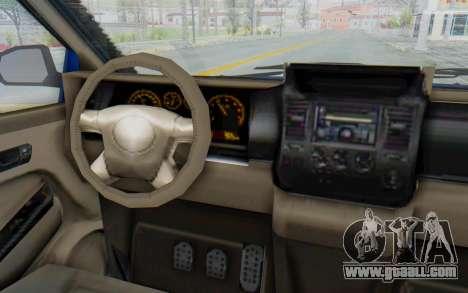 GTA 5 Vapid Minivan Custom for GTA San Andreas inner view