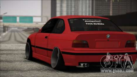 BMW E36 Stance for GTA San Andreas back view
