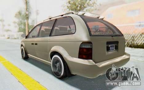 GTA 5 Vapid Minivan Custom without Hydro IVF for GTA San Andreas left view