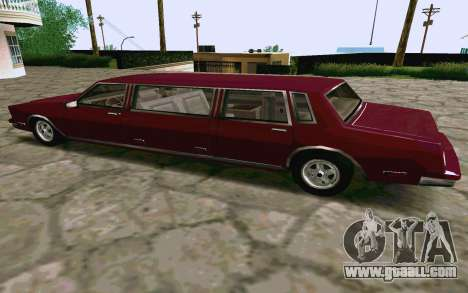 Tahoma Limousine v2.0 (HD) for GTA San Andreas back left view