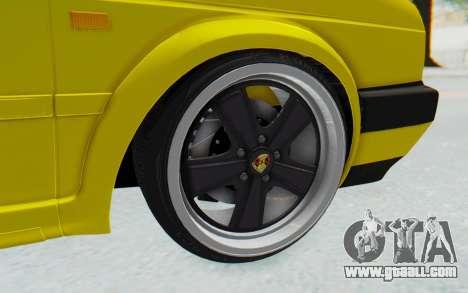 Volkswagen Golf Mk2 Lemon for GTA San Andreas back view
