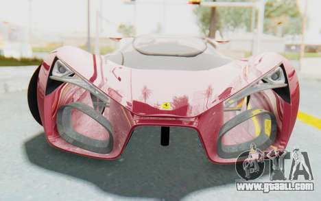 Ferrari F80 Concept for GTA San Andreas back view