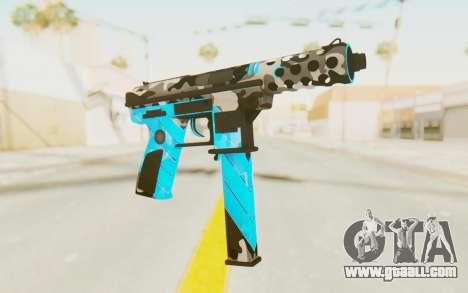 Tec-9 Neural Blue for GTA San Andreas