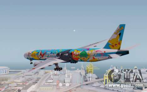 Boeing 777-300ER ZK-OKR for GTA San Andreas right view