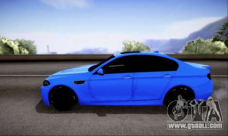 BMW M5 F10 G-Power for GTA San Andreas side view