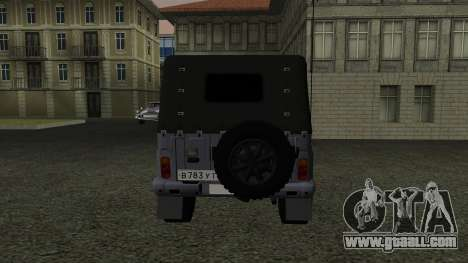 UAZ-469 for GTA San Andreas inner view