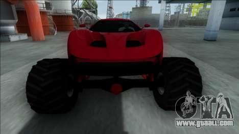 GTA V Vapid FMJ Monster Truck for GTA San Andreas inner view