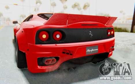 Ferrari 360 Modena Liberty Walk LB Perfomance v2 for GTA San Andreas upper view