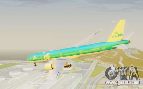 Boeing 777-300ER KLM - Royal Dutch Airlines v3 for GTA San Andreas right view