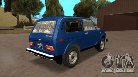 VAZ 2121 for GTA San Andreas back view