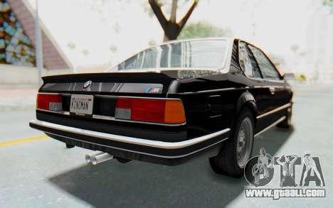 BMW M635 CSi (E24) 1984 IVF PJ3 for GTA San Andreas back left view